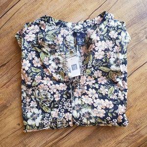 NWT Gap flower blouse